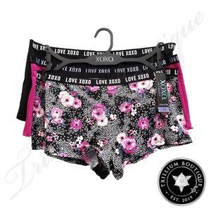 XOXO Intimates Women's Panties 3 Pairs 1X NWT